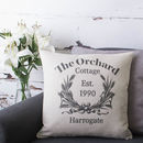 Personalised Cottage Style Cushion Cover