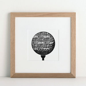 Personalised Favourite Sport Print - gifts for golfers