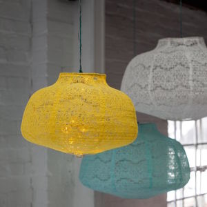 Lace Lamp Shades - bedroom
