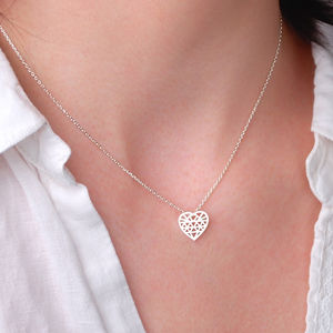 Personalised Geometric Heart Necklace