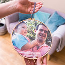 Personalised You Lift Me Up Dad And Me Hoop