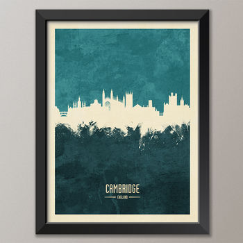 Cambridge Skyline Print And Box Canvas