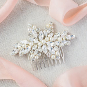 Khara Bridesmaids Bridal Hair Comb - bridal hairpieces