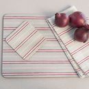 Malvern Grey Red Set Of Four Placemats