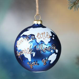 'Leave A Little Sparkle' Globe Bauble - view all decorations
