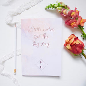 Wedding Planning Book 'Little Notes For The Big Day'