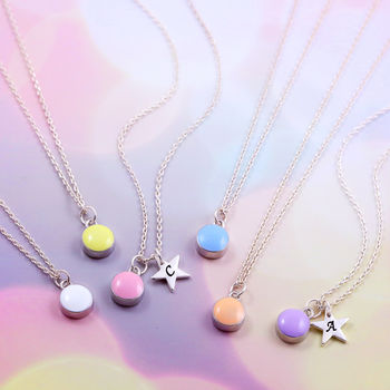Mini Enamel Dot Necklace
