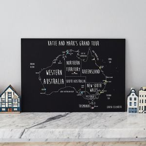 Personalised Australia Pinboard Map