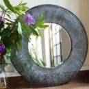 Round Filigree Wall Mirror