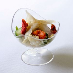 Clear Canape Dishes Elegant Party Tableware