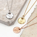 18ct Gold Or Sterling Silver Molten Mini Disc Necklace