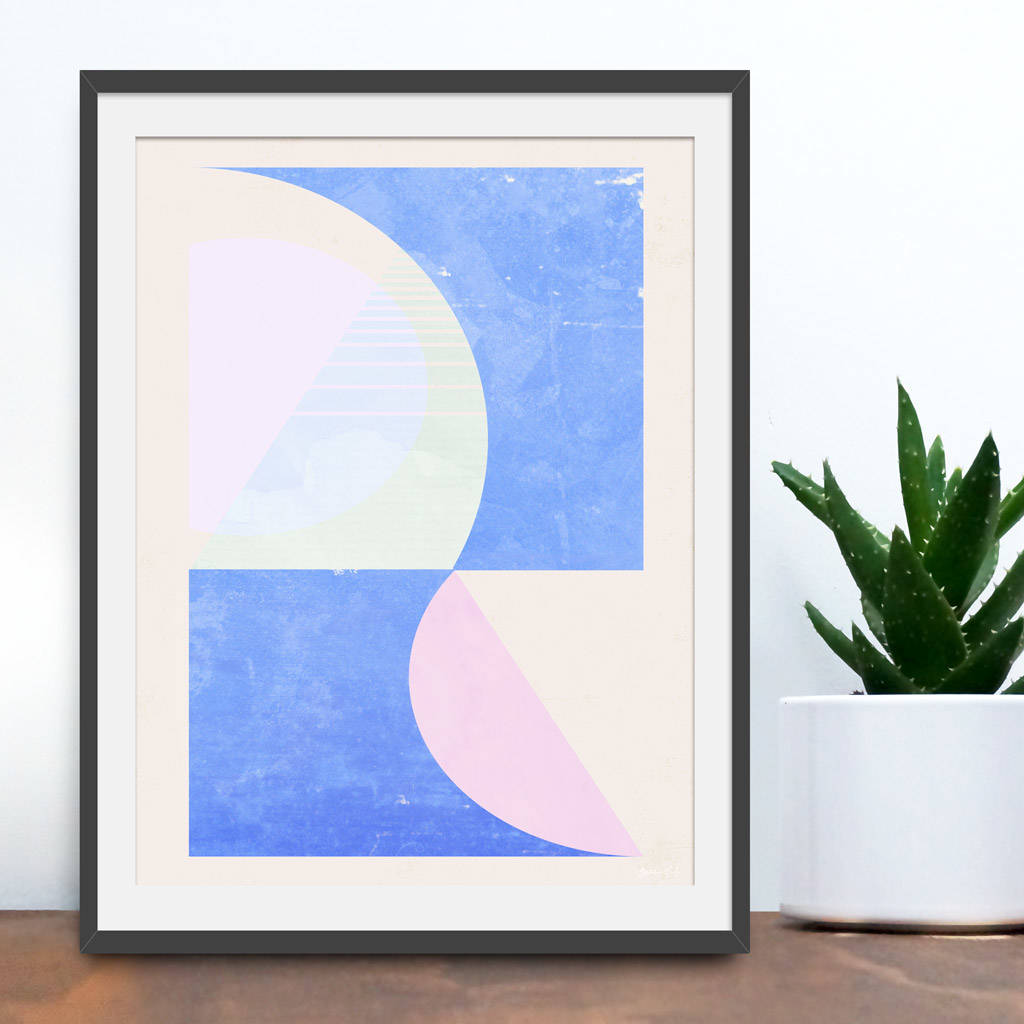 Inside Out Geometric Abstract Print