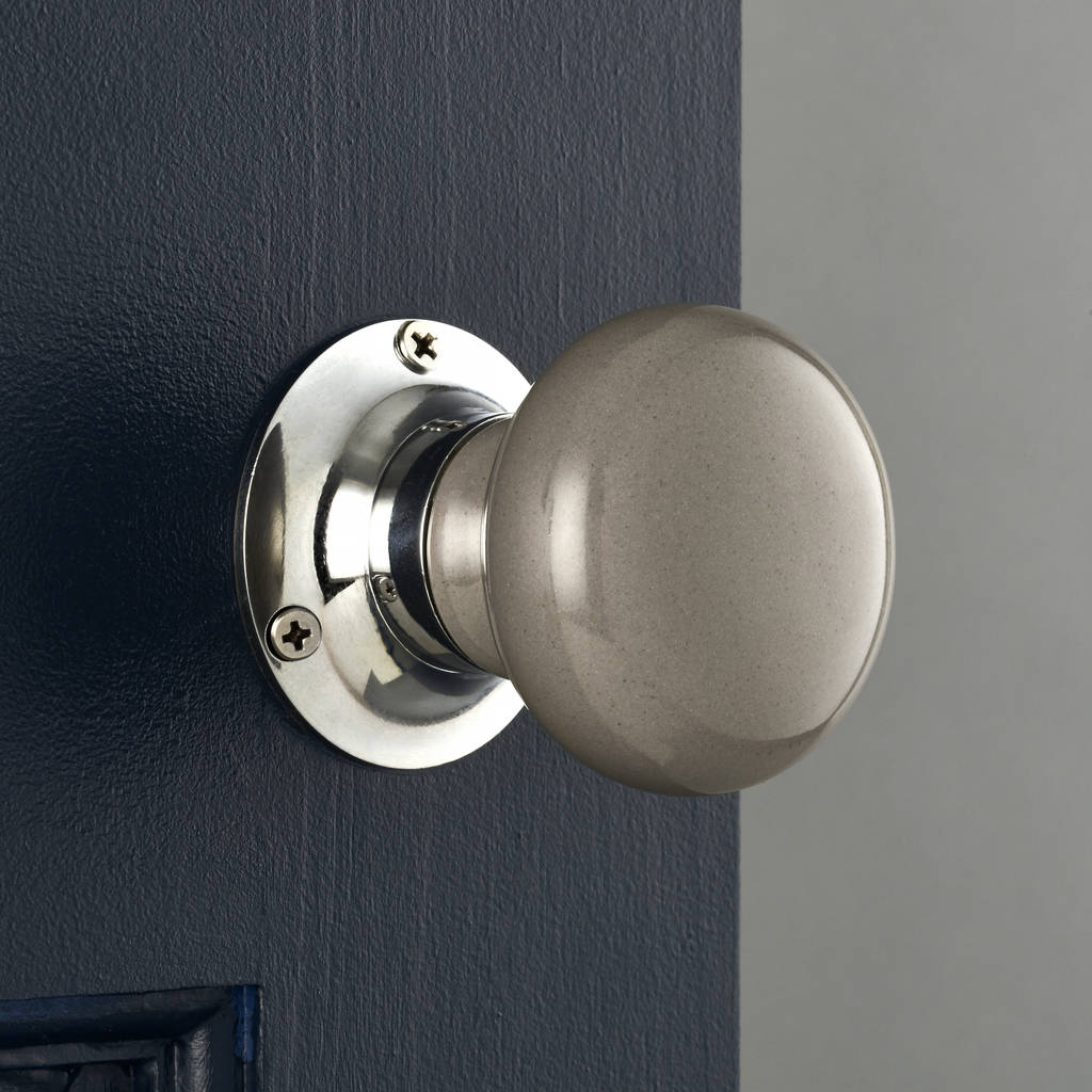 Grey Internal Turning Mortice Door Knobs By Pushka Home