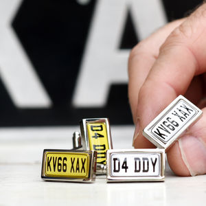 Personalised Car Number Plate Cufflinks - mens