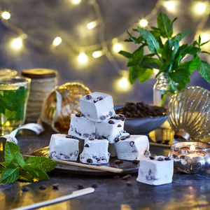 Mint Choc Chip Gourmet Marshmallows - festive food & drink