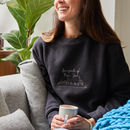 Personalised Fairytale Of New York Embroidered Jumper