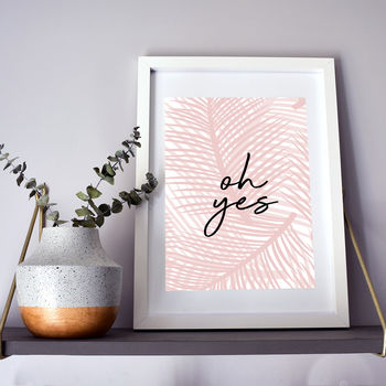 Contemporary Palm Print Pink/Green
