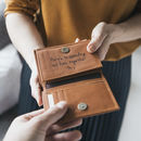 Personalised Men's Leather Wallet With Coin Pocket