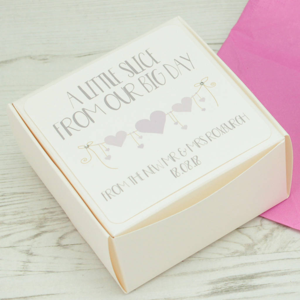 take home wedding cake boxes personalised string wedding cake box by dreams to 7910