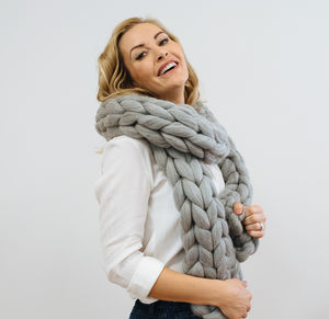 Giant Chunky Knit Scarf - scarves