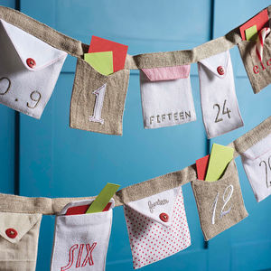 Letter Advent Envelope Bunting - advent calendars