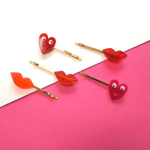 Velentines Hair Clips - hair accessories