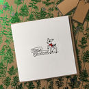 Pack Of Eight Illustrated Baby Deer Christmas Cards