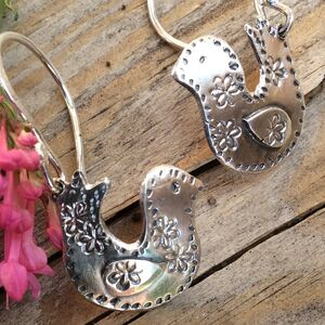 Little Bird Recycled Silver Earrings