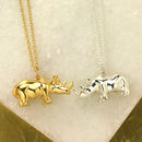 Personalised Rhino Necklace