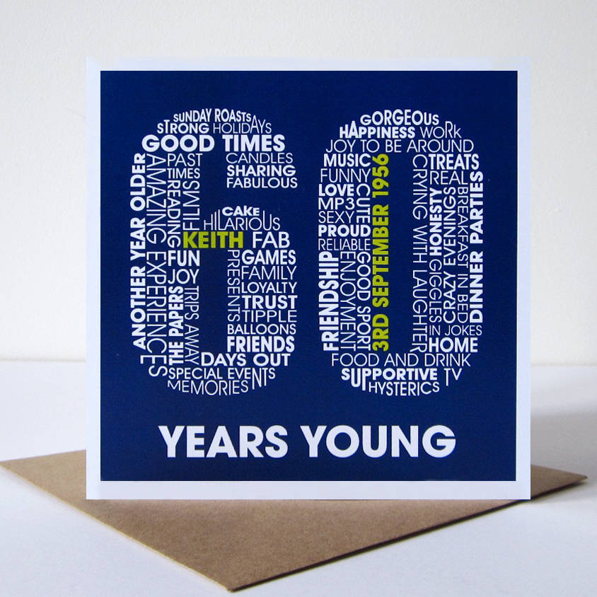 Personalised 60th Birthday Card By Mrs L Cards