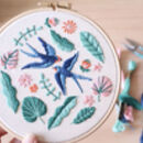 Beginner Summer Swallows Embroidery Kit