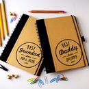 Personalised Best Dad Notebook