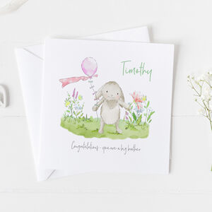 Big Brother New Baby Card Christening Card ..V2a14