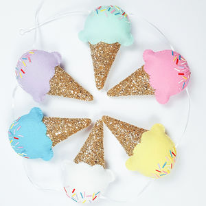 Pastel Ice Cream Garland - children's room