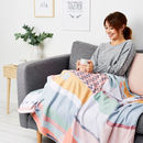 Personalised Modern Patchwork Print Throw Or Blanket