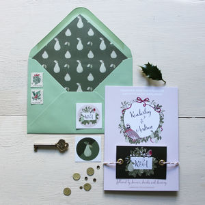 Festive Wedding Invitation - invitations