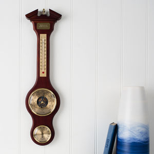 The Gainsborough Personalised Banjo Barometer