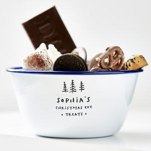 Enamel Personalised Christmas Treat Bowl - secret santa gifts