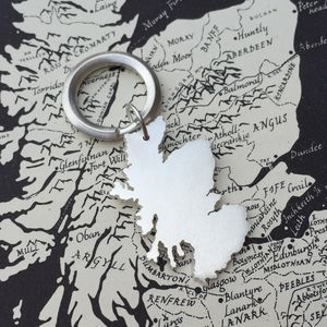 Personalised Silver Coastal Outline Keyring - keyrings