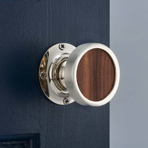 Contemporary Internal Walnut Wood Mortice Door Knob