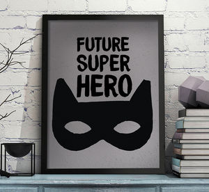 Future Superhero Print - nursery pictures & prints