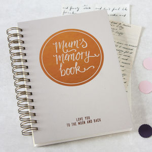 Personalised Mum's Memory Book - keepsake albums