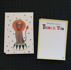 12 Childs Thank You Cards Lion Design - shop by category