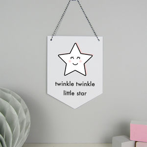 Star Hanging Card Wall Flag - children's room