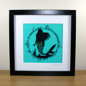 Square Mermaids Have No Tears Print