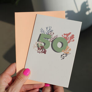 Eco Friendly 50th Birthday Milestone Card