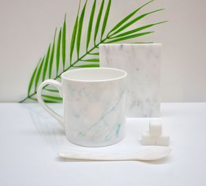 Blue Marble Effect Bone China Mug