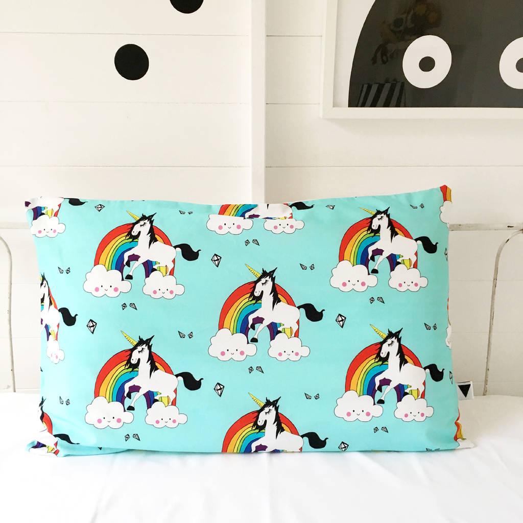 Rainbow Guy Unicorn Kids Pillowcase
