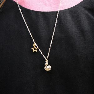 Children's Gold Swan Necklace