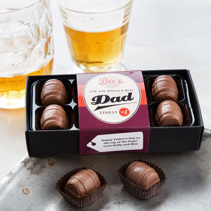 World's Best Dad Craft Beer Chocolates - personalised
